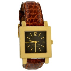 Bulgari Square Face Gold Watch