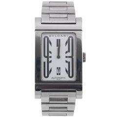 Bulgari Stainless Steel Rettangolo Bracelet Automatic Wristwatch