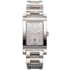 Bulgari Stainless Steel Rettangolo Bracelet Automatic Wristwatch