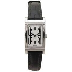 Bulgari Stainless Steel Rettangolo quartz Wristwatch, Ref RT39