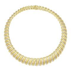 Bulgari Steel & Yellow Gold Necklace