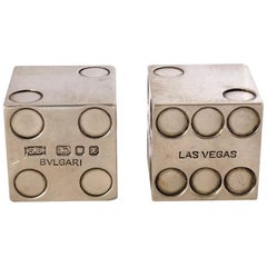 Bulgari Sterling Silver Large Heavy Las Vegas Dice