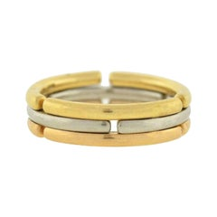 Bulgari Tri-Color Gold Collapsible Men's Band Ring