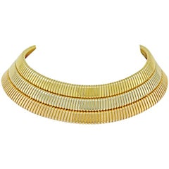 Bulgari Tri-Color Gold Tubogas Choker Necklace