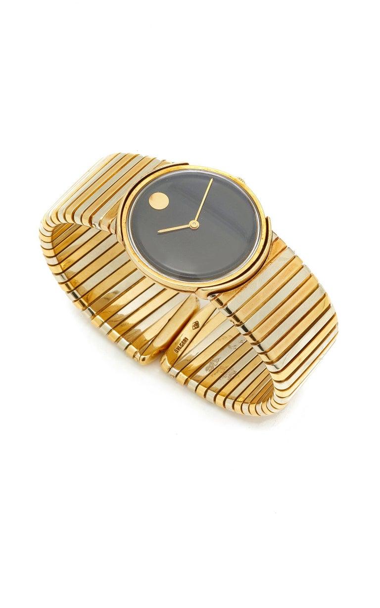 Women's or Men's Bulgari Tricolor Gold Tubogas Wristwatch  For Sale