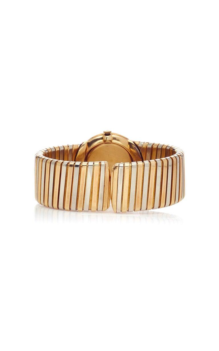 Bulgari Tricolor Gold Tubogas Wristwatch  For Sale 2