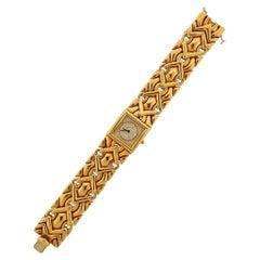 Bulgari Trika Gold Diamond Dial Watch Bracelet BJ06