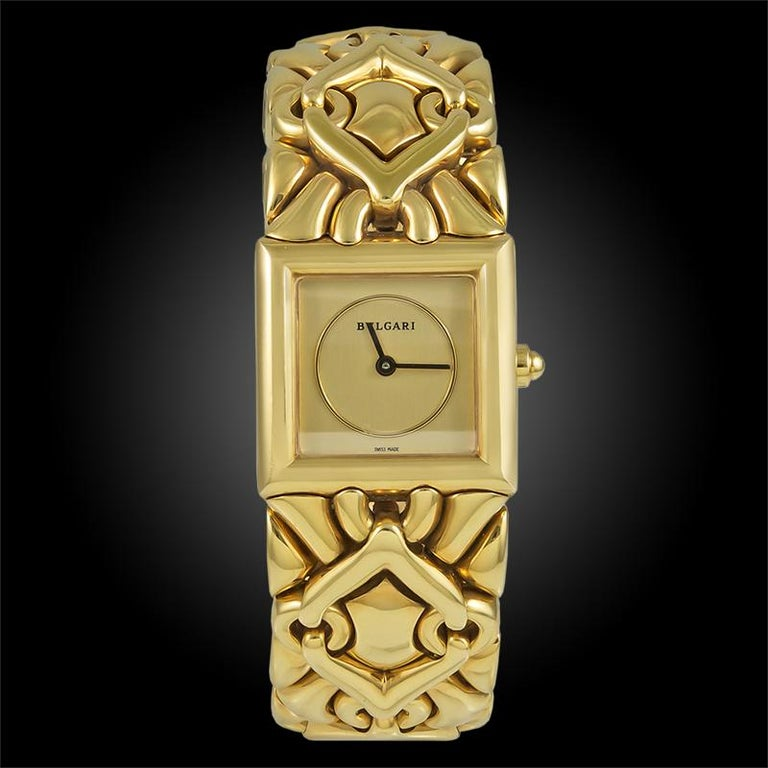 Bulgari Trika Ladies Gold Watch In Good Condition For Sale In New York, NY