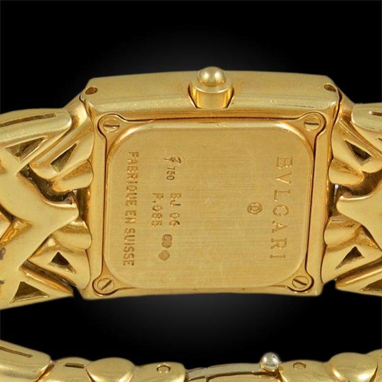 Women's or Men's Bulgari Trika Ladies Gold Watch For Sale