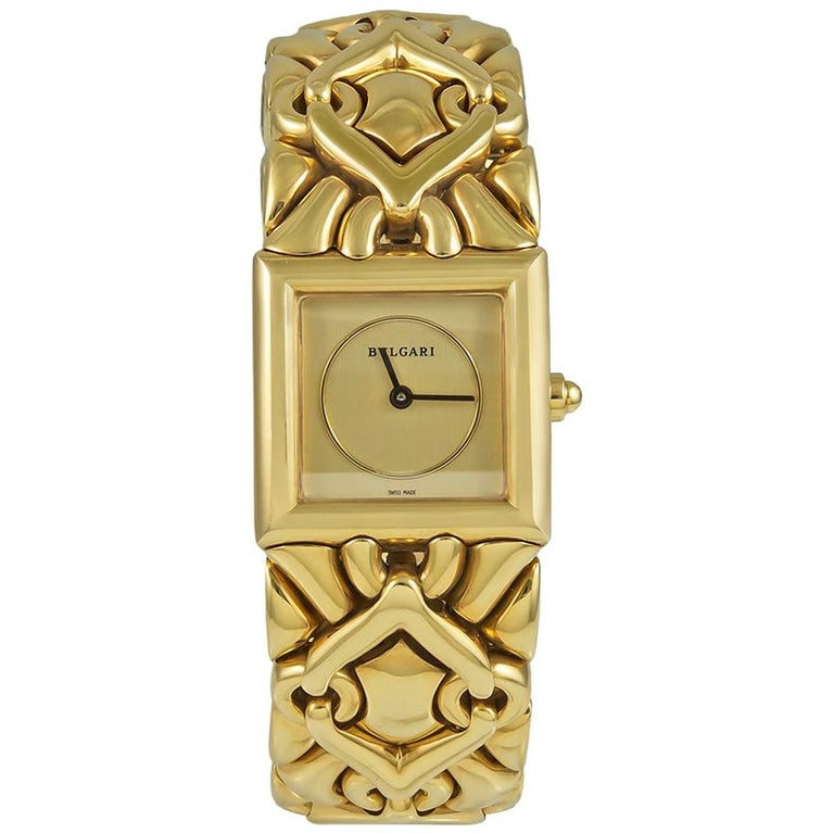 Bulgari Trika Ladies Gold Watch For Sale