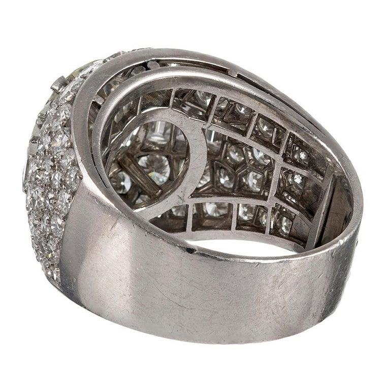"""Bulgari """"Trombino"""" 3 Carat Diamond Center Ring In Good Condition For Sale In Carmel-by-the-Sea, CA"""