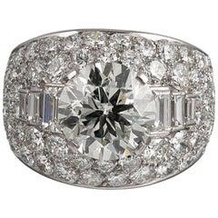"""Bulgari """"Trombino"""" 3 Carat Diamond Center Ring"""