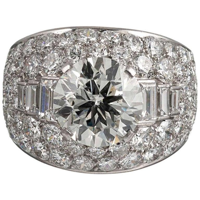 "Bulgari ""Trombino"" 3 Carat Diamond Center Ring For Sale"
