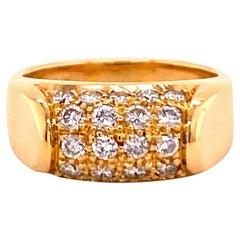 Bulgari Tronchetto Ring in 18 Karat Yellow Gold with Diamonds
