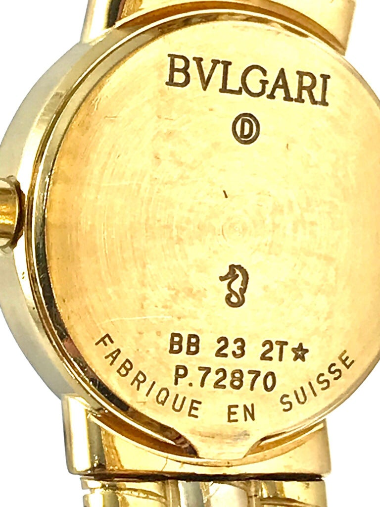 Bulgari Tubogas 18 Karat Tri-Color Gold Open Flex Watch Bangle Bracelet For Sale 1