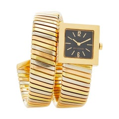 Bulgari Tubogas 18 Karat Tricolor Gold Watch