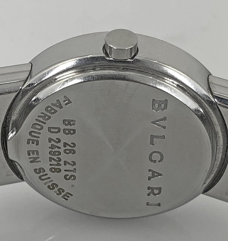 Bulgari Tubogas Cuff Watch In Good Condition For Sale In New York, NY