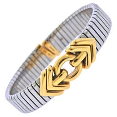 Bulgari Tubogas Gold and Steel Bracelet