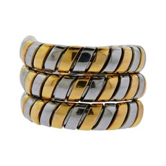 Bulgari Tubogas Gold and Steel Wrap Ring