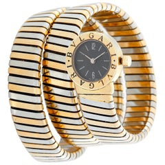 Bulgari Tubogas Ladies Tri-Color Bvlgari Watch BB191T