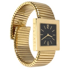 Bulgari Tubogas Large Yellow Gold Bracelet Wristwatch