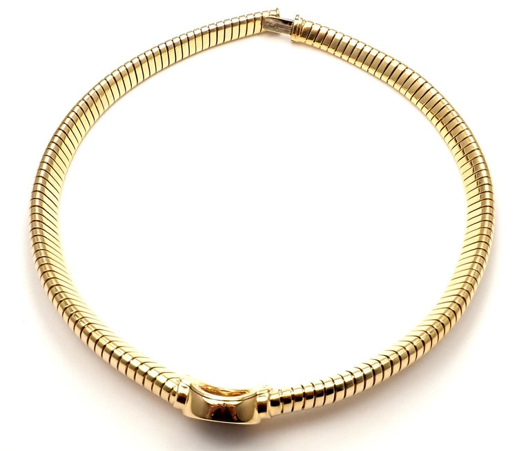 Bulgari Tubogas Monete Ancient Coin Yellow Gold Necklace For Sale 5
