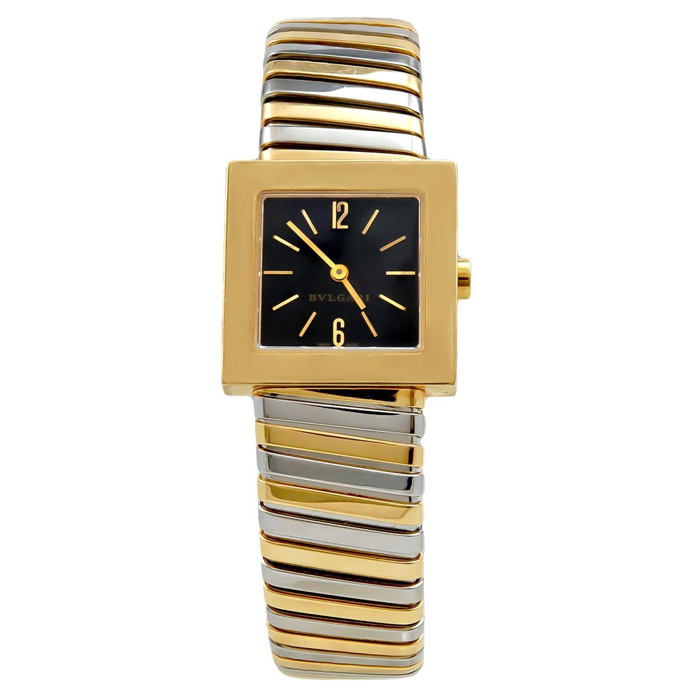 BULGARI Tubogas 22mm Quadrato Tri-Color Watch
