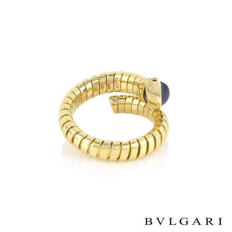 Bulgari Tubogas Sapphire Serpentine Ring In Excellent Condition For Sale In London, GB