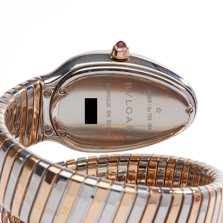 Bulgari Tubogas Serpenti Stainless Steel And 18k Rose Gold 102621 For Sale 2