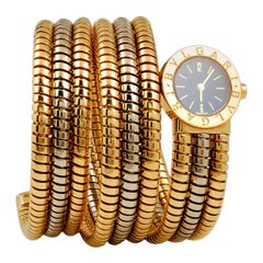 Bulgari Tubogas Serpenti Tri-Band Bracelet Watch