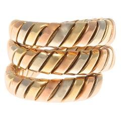 Bulgari Tubogas Serpenti Tricolor Ring