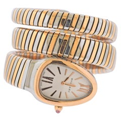 Bulgari Tubogas Serpenti Two-Tone Watch Wrap Bracelet SP 35 SPG
