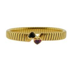 Bulgari Tubogas Tourmaline Peridot Gold Bracelet
