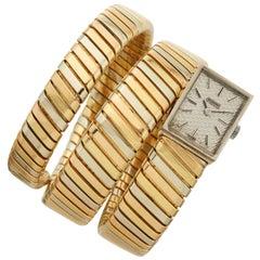 Bulgari Tubogas Tri-Color Bracelet-Watch Rectangular Dial