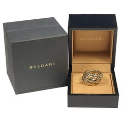 Bulgari Tubogas Tri Color Gold Triple Wraparound Ring