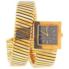 Bulgari Tubogas Tri Color Gold Wrap Bracelet Watch SQ 22 1T