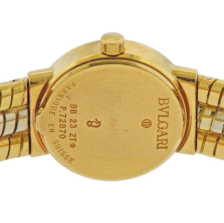 Women's or Men's Bulgari Tubogas Watch Bracelet BB 23 2T For Sale