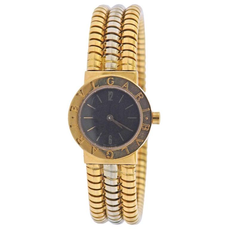 Bulgari Tubogas Watch Bracelet BB 23 2T For Sale