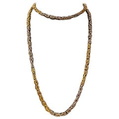 Bulgari Two-Color Gold Long Chain Necklace