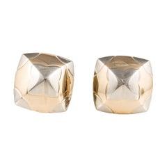 Bulgari Two-Tone Gold Pyramid Earrings