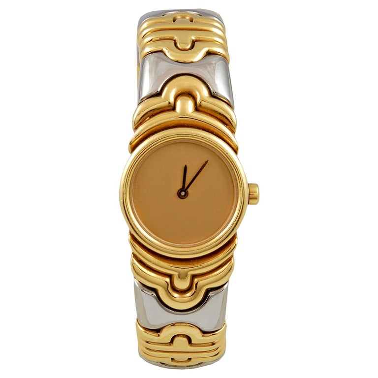 Bulgari Two-Tone Gold Watch For Sale