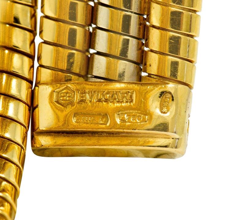 Bulgari Vintage 18 Karat Two Tone Gold Serpenti Tubogas Coil Watch For Sale 5