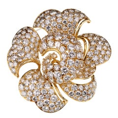 Bulgari La Dolce Vita 34 Carat Pave Diamond Gold Brooch