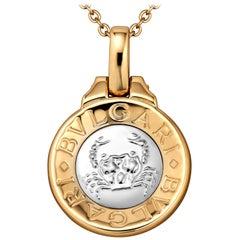 Bulgari Vintage Gold Cancer Zodiac Pendant Charm