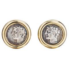 Bulgari Vintage Gold Coin Earrings