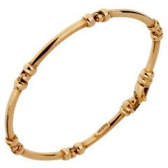 Bulgari Vintage Gold Tube Bracelet