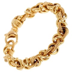 Bulgari Vintage Yellow Gold Chain Bracelet
