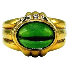 Bulgari Vintage Yellow Gold Peridot Ring