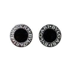 Bulgari White Gold 18-Karat and Black Onix Stone Earring