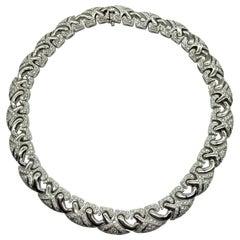 Bulgari White Gold & Diamond Necklace